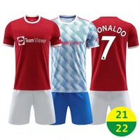 EE.UU. FAST 21 22 Home Jersey Soccer Wear Ronaldo Kit de manga corta Conjuntos # 7 Jerseys de fútbol 2021 de distancia Uniformes Soccers Formación T Shirt 2022 con logo #mlz #mlk
