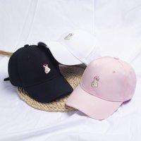 2021 الربيع والصيف بطة اللسان الكورية أزياء نمط جديد تحب ابتسامة المطرزة أنا مشغول إلكتروني قبعة بيسبول