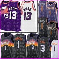 Retro Mesh Steve 13 Nash Jersey Devin 1 Booker Chris 3 Paul Trikots Männer Kids Basketball Trikots Stickerei Logos