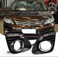Auto-Tech 1 Çift Araba LED Gündüz Çalışan Işıklar Yedek DRL Toyota Corolla 2010-2013