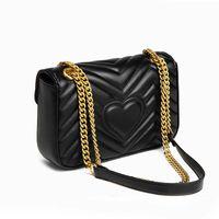 Marmont حقائب النساء المصممين الفاخرة حقائب الكتف حقائب اليد 2021 جودة عالية المخملية جلد طبيعي سلسلة الأزياء إلكتروني crossbody messager حمل حقيبة