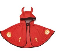 New style kids cape with cap halloween christmas party cosplay cloak pumpkin witch capes children stage decorative costume clothing