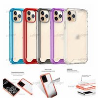 Clear Acrylic TPU PC Transparent Shockproof phone Cases for iPhone 12 11 Pro XR XS MAX 7 8 Plus Samsung Galaxy S20 Ultra S10 Note 10 cover case