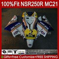 Injection OEM pour Honda NSR250 NSR 250 R NSR250R 1990 1991 1992 1993 103HC.55 Hot Rothmans MC21 NSR 250R PGM3 NSR250RR 90 91 92 93 Corps de carénage