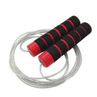 Cuerdas de salto 3 metros Cuerda de salto suave ajustable con asas amigables con la piel para niños niños estudiantes y adultos (rojo)