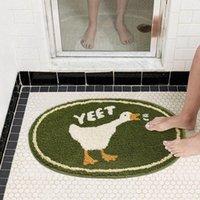 Carpets Cute Duck Bathroom Rug Funny Soft Bathtub Carpet Area Rugs Kitchen Floor Mats Nordic Welcome Doormat Chic Home Room Decor