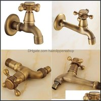 Bathroom Sink Faucets Faucets, Showers As Home & Gardenantique Laundry Long Spout Solid Brass Washing Hine Taps Copper Retro Classic Wall Mo