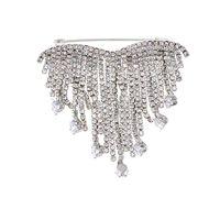 Spille, spille Strass da donna in cristallo corona di cristallo grande cuore floreale da sposa spilla da sposa matrimonio moda gioielli decorazione broches
