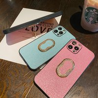 Luxury Fashion pink Luminous camera protection Mobile Phone Cases for iphone 12 pro max with holder glitter leather Kickstand Water Resistant case