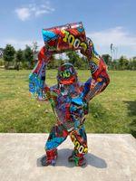 The Big Graffiti Art King Kong Gorilla Monkey Sculpture Statue 40cm