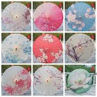 Yağmur Geçirmez Kağıt Şemsiye Çin Geleneksel Zanaat Yağ Kağıdı Şemsiye Ahşap Saplı Düğün Şemsiye Sahne Performans Sahne CCE8675