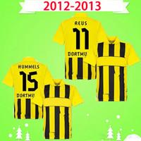 Borussia Dortmund BVB 컵 2012 2013 레트로 축구 유니폼 12 13 홈 옐로우 블랙 빈티지 클래식 축구 셔츠 Reus Hummels Lewandowski kagawa m.götze