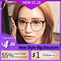 Moda Gafas de sol Marcos 49946 Medio marco Redondo Vidrios ópticos Hombres Mujeres EyeGlasses