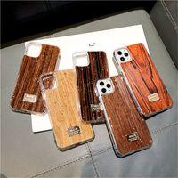 الفاخرة جميلة الخشب الملمس حالة الهاتف لآيفون 11 برو ماكس 7 8 زائد xs x xr xs ماكس الرجعية خشبية نمط الذهب احباط غطاء لينة