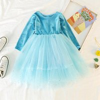 Girl's Dresses Girls Dress Spring Autumn Teenager Lace Floral Elegance For Kids Girl Princess Party Children Flower 5 Years