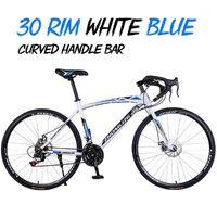 Bicicletas Alto-carbono Aço 30 RIM Road Bicycle Corrida de Velocidade do Carro, Freio de Disco Duplo, 700c Alterar Bicicleta de Estudante1