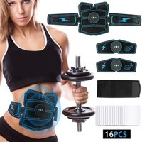 Abdominal Muscle Stimulator Trainer EMS Abs Fitness Equipment Training Gear Muscles Electrostimulator Toner Exercise At Home Gym 29 X2