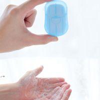 20 pcs / conjunto descartável caixa de sabão caixa portátil aromaterapia de aromaterapia lavar banho viajar mini caixa de sabão sabão base banheiro acessórios nhf8415