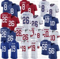 Hombres Mujeres Juveniles 26 Saquon Barkley Fútbol Jersey 10 Eli Manning 8 Daniel Jones 19 Kenny Golladay Jerseys cosido