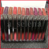 12 색 입술 메이크업 매트 액체 립스틱 립글로스 방수 문신 오래 지속 Lipgloss 색조 투명 상자 화장품