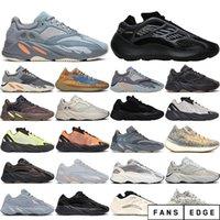 con calze gratuite Hot 700 Orange Phosphor Black Womens Mens Scarpe da corsa Static Vanta V3 Magnete Azael 380 Mens Trainer Sneakers Dimensioni 36-45