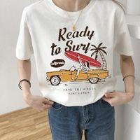 Women's T-Shirt Fashion Women T Womens Ready To Surf Graphic Tee Shirt Femme Top Tshirt Female Ladies Clothes