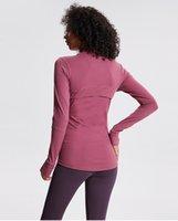 LU 운동 촉감 요가 재킷, 가을 겨울, 다른 색상 긴 소매
