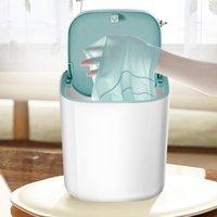 Laundry Bags Portable Washing Machine Rotating Ultrasonic Turbines Washer Usb Powered Desktop Clothing Underwear 3.8L