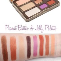 peanut butter and jelly Pearlescent 9 color eyeshadow palettes desert rose eye shadow disc marble makeup plate