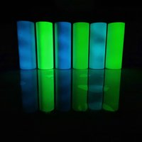 Sublimação DIY tumblers retas 20oz brilho no tumbler escuro tinta luminosa luminescente Magic Cup W-00878