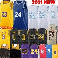2021 Alex 4 Caruso Jersey Talen 5 Horton-Tucker Jersey Anthony 3 Davis Kyle 0 Kuzma Los Baloncesto Jerseys Angeles S-XXL