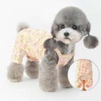 Dog Apparel Floral Pet Clothes For Cotton Pajamas Shirts Jumpsuits Cat Onesies