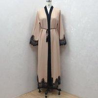 الملابس الإسلامية العرقية النساء العبايات ل Robe العربية دبي Musulman De Mode Caftan Marocain متواضع مسلم فستان