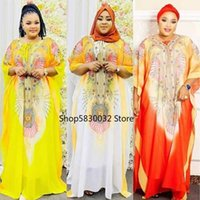 Ethnic Clothing African Dresses For Women Summer 2021 Printing Polyester Plus Size Long Robes Clothes
