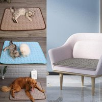 Kennels & Pens Dog Cooling Mat Summer Bed Pad Cat Blanket Breathable Pet Ice Sofa Product Mats For Small Medium Large Accessories