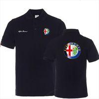 Summer Shirt Business Casual Coton Mens Polos Mâle manches courtes Alfa Romeo Plus Taille 3XL