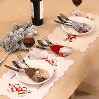 Sueco Santa Gnomo Saco De Talheres Forquilha Faca Cutelaria Cutelaria Saco De Prata Festa De Natal Mesa De Jantar Decoração OWD10127