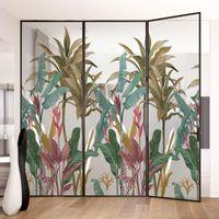 Fensteraufkleber Dktie Produkt Glas Aufkleber Wärmedämmung und Sonnencreme Tropische Regenwald Serie Home Decoration Film Badezimmer Schlafzimmer