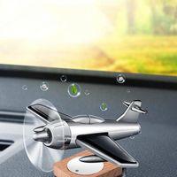 Car Air Freshener Solar ABS Airplane Perfume Decoration Interior Deodorizing Peculiar Smell Solid Light Fragrance