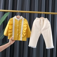 2021 New Spring Fall Newborn Matching Outfits + Shirts Suit for Baby Infants Girls 1 y Sets of Birthday Clothes W7gk