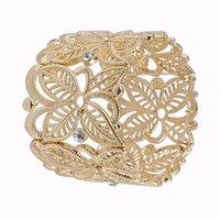 Bangle Turkey Hollow Flower Gold Bracelet For Women Jewelry Size Adjustable Bohemian Cuff Bangles Gifts