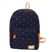 Backpack Large Schoolbag Cute Student School Dot Kawaii Waterproof Bagpack Fashion Book Bags For Teenage Girls Kids