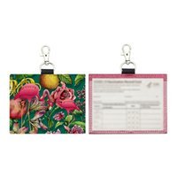 Titulaire de carte d'identité de paillettes créative SUBLIMATION BUSSSUness Cards Porte-cartes Société Permis de travail avec crochet 9 * 11.5cm