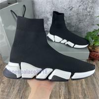 2020 Socken Schuh Geschwindigkeit 2.0 gestrickte Trainer lässig Turnschuhe weiche High Cut Socke Race Fashion Black Schuhe Männer und Frauen Schuhe 36-45