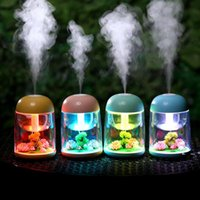 180ml Micro Landscape Humidifier Night Light USB Humidifiers Mist Maker Mini Air Purifier Office Decorations EWD10389