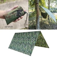 Tents And Shelters 100x145cm Waterproof Portable Lightweight Camping Tent Tarp Shelter Mat Awning Cover Hammock Sunshade Rainfly Beach