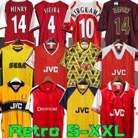 Highbury Home Futbol Gömlek Jersey Futbol Pires Henry Reyes 02 03 Retro Jersey 05 06 98 99 Bergkamp 94 95 Adams Persie 96 97 Galla 86 87 89