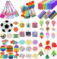 Weihnachtsfidget spielzeug Push It Blase Antistress Toys Halloween Geschenk Anti-Stress Weiche Sensorische Geschenke Wiederverwendbare Squeeze Toys Stress Reliever Brettspiele Münzbörse