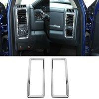Condizionatore d'aria Chrome Vent Outlet Cover Frame decorativo 2pc per Dodge RAM 2010-2017 Accessori interni auto
