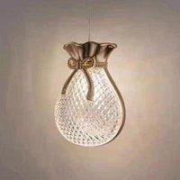 Люстры современный счастливый сумка люстра светодиодный муранский стекло дизайнерский дизайнер спальня тумбочка для ванной комнаты украшения подвесной лампа крытый осветительный приспособление
